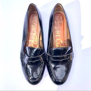 Sam Edelman Patent Leather Penny Loafer Shoes
